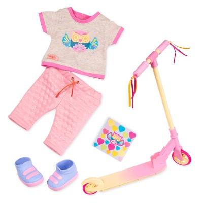 "Our Generation Sporty Outfit with Scooter Accessory for 18"" Dolls - Owl Be Cruisin'"