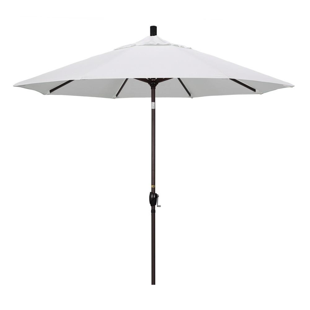 9 Aluminum Push Tilt Patio Umbrella Natural