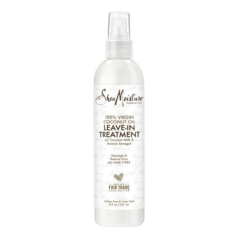 SheaMoisture 100% Virgin Coconut Oil Leave In Treatment - 8 fl oz - image 1 of 4