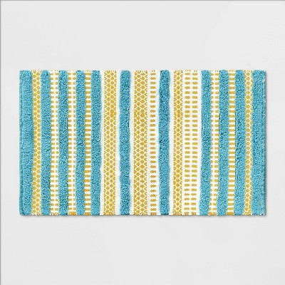 Fringe Bath Rug Yellow/Aqua - Opalhouse™