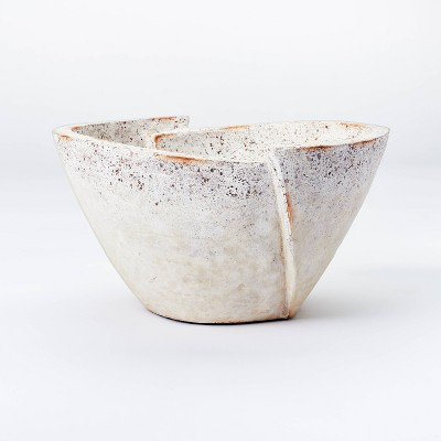 Decorative Sculptural Geometric Folded Bowl Cream - Threshold™ designed with Studio McGee