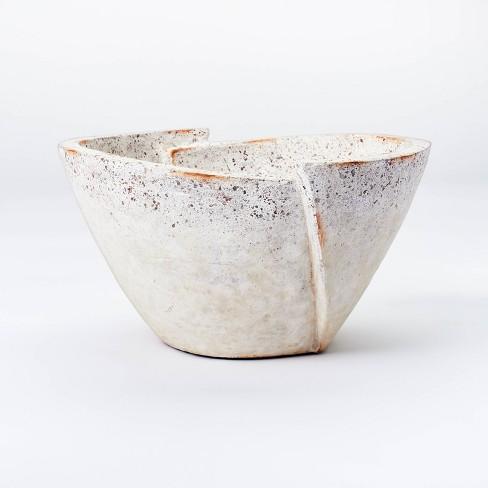 Decorative Sculptural Geometric Folded Bowl Cream - Threshold™ designed with Studio McGee - image 1 of 3