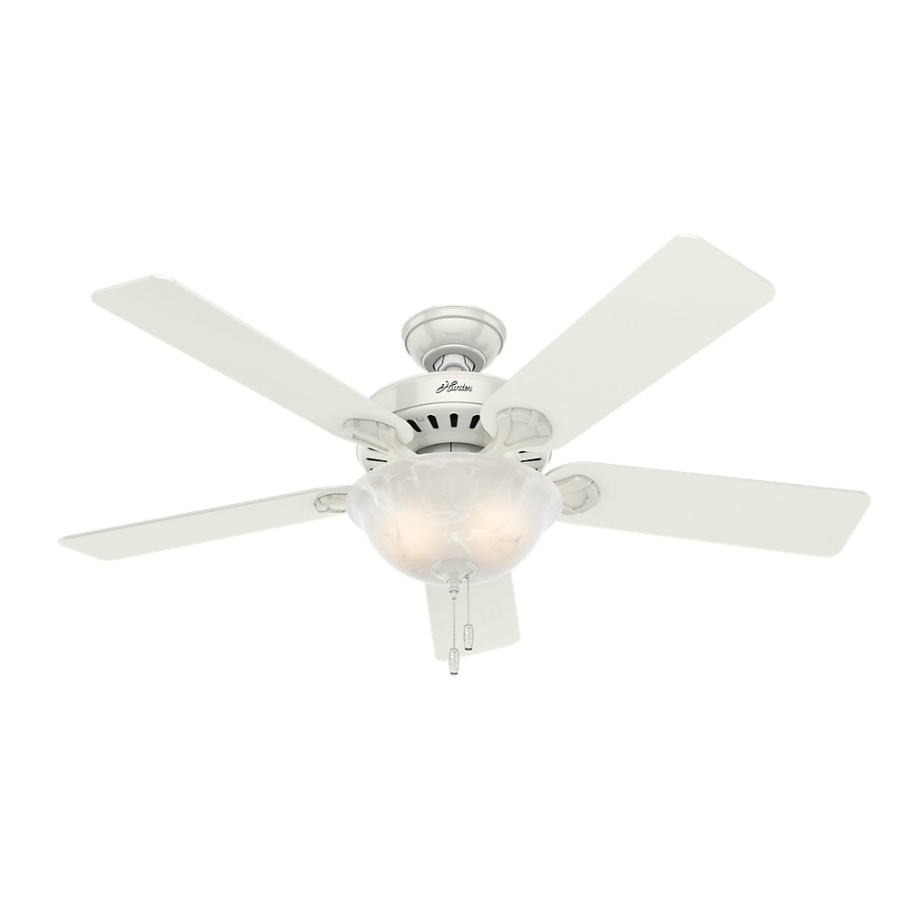 """Image of """"52"""""""" LED Pro's Best Five Minute Fan Lighted Ceiling Fan White - Hunter Fan"""""""