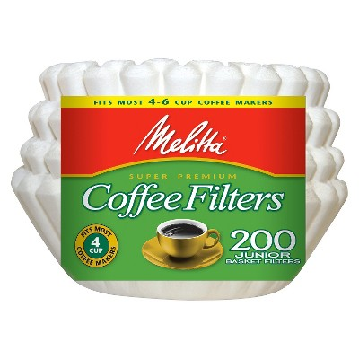 Melitta 4-6cup White Coffee Filters 200ct