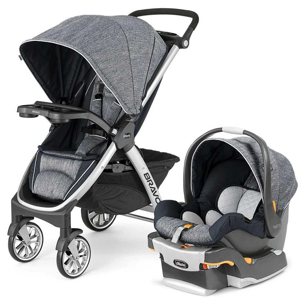 Image of Chicco Bravo Travel System - Indigo, Blue
