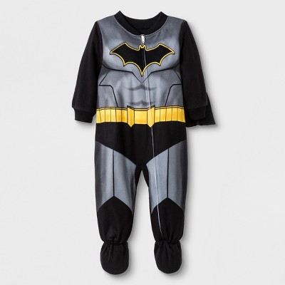 Baby Boys' Batman Blanket Sleeper - Black 12M