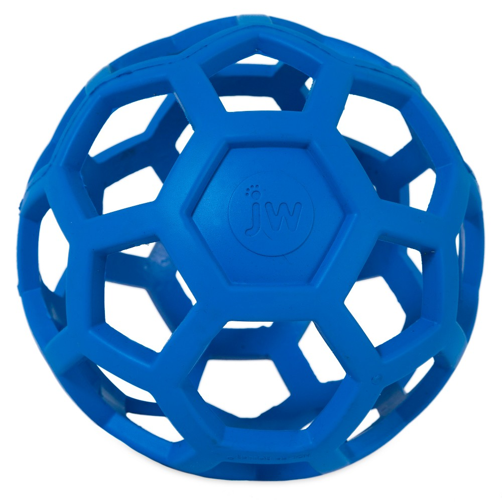 JW Hol-ee Roller - Large, Multi-Colored Hol-EE Roller is a fun, versatile toy with the durability you've been searching for. Rubber gives it strength, bounce and a soft texture The unique open design allows you to stash small treats or kibble inside for hours of entertainment for your dog. JW Pet Hol-EE Roller Dog Toy is a non toxic, durable, natural rubber, super-stretchy multipurpose dog toy. It's a fantastic treat ball, wonderful training aid, great for fetch, toss and tug, chewing and teething. Color: Multi-Colored.