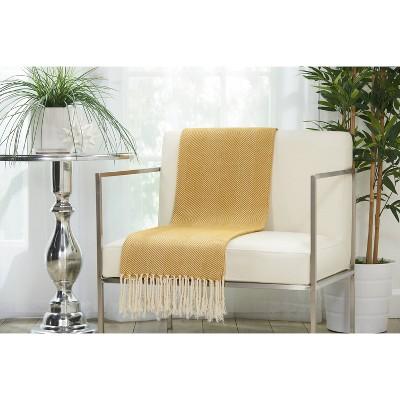 Mustard Seed Stripe Throw Pillow 50 X70  - Mina Victory