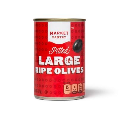 Large Pitted Black Olives - 6oz - Market Pantry™