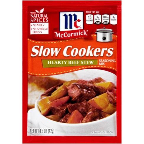 McCormick Slow Cookers Hearty Beef Stew Seasoning 1.5oz - image 1 of 3