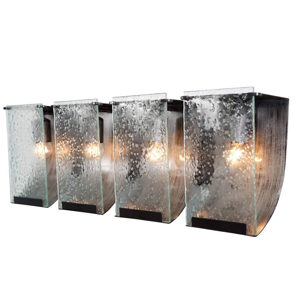 Rain 4 Light Bath Fixture - Rainy Night, Silver