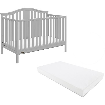 Graco® Solano 4-in-1 Convertible Crib with Bonus Mattress - Pebble Gray