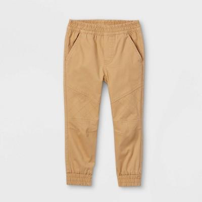 Toddler Boys' Quilted Knee Woven Jogger Pants - art class™ Tan