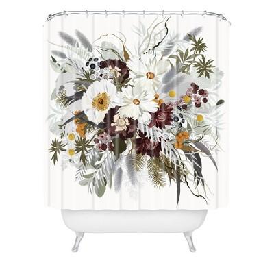 Iveta Abolina Ruby Autumn Shower Curtain White - Deny Designs