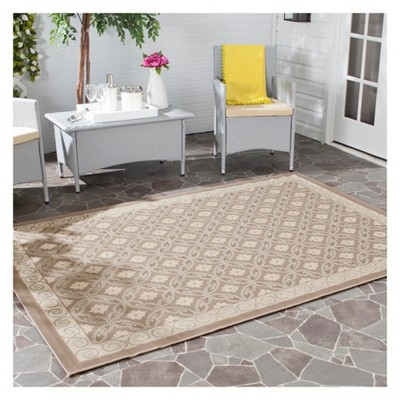 Ainsworth Rectangle 5u00273 X7u00277  Patio Rug - Dark Beige/Beige - Safavieh® & Ainsworth Rectangle 5u00273