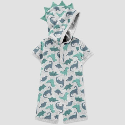 Baby Boys' Dino Hooded Romper - Just One You® made by carter's Gray 3M