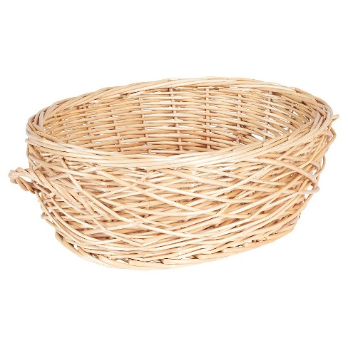 Household Essentials - Spring Bird Nest Willow Oval Basket - Natural - image 1 of 2