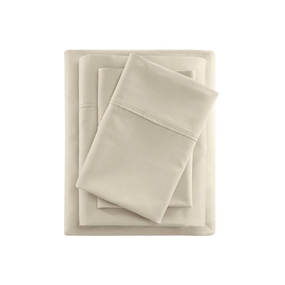 Full 400 Thread Count Cotton Sateen Sheet Set Ivory