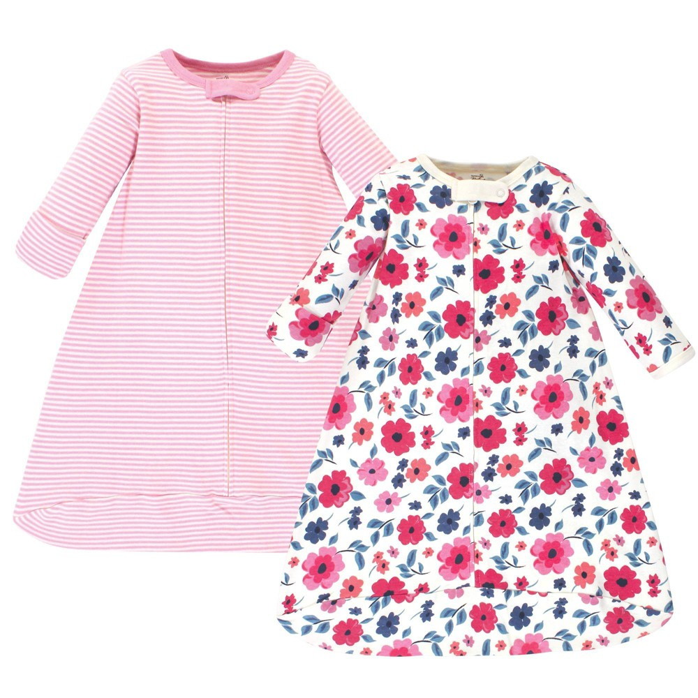 Touched By Nature Unisex Baby Organic Cotton Long Sleeve Wearable Sleeping Bag Sack Blanket Garden Floral 0 3 Months