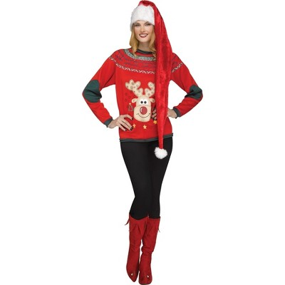 """Fun World 48"""" Super Long Ultra Velvet Mrs. Claus Christmas Hat"""