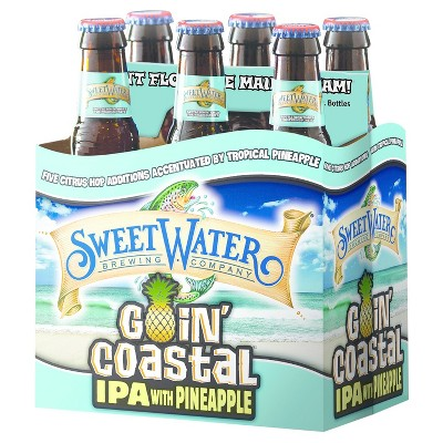SweetWater Goin Coastal Pineapple IPA Beer - 6pk/12 fl oz Bottles