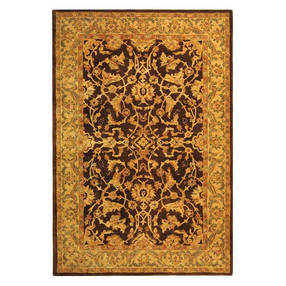 Brown/Tan Floral Tufted Area Rug 6'X9' - Safavieh, Brownntan