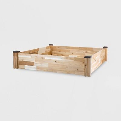 49  x 49  Square Cedar Raised Garden Bed - CedarCraft