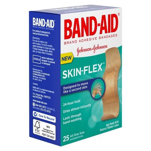 band aid skin flex 25 ct target