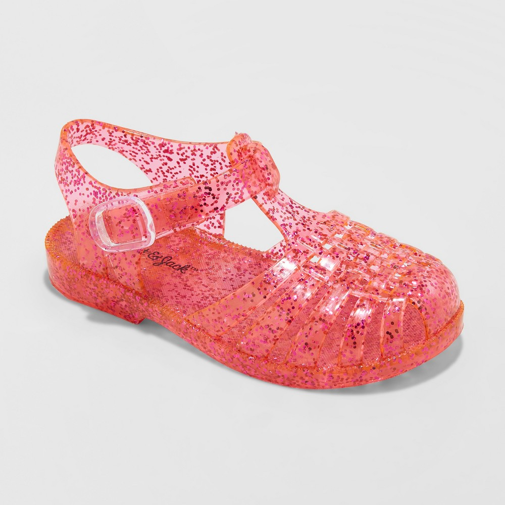 Toddler Girls' Fleur Jelly Fisherman Sandals - Cat & Jack Pink 10