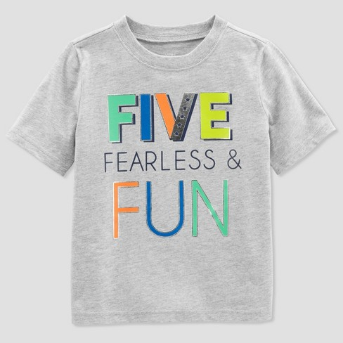 Baby Boys 5 Fearless Short Sleeve T
