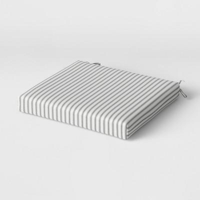 Crestwood Stripe Seat Cushion DuraSeason Fabric™ Gray - Threshold™