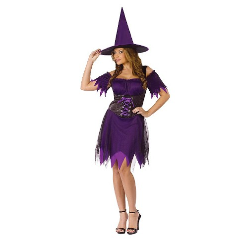Women's Witch Costume Purple - image 1 of 1