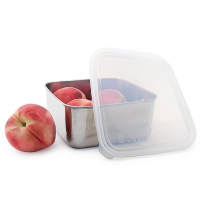 U-Konserve To-Go Stainless Steel Food-Storage Container Square 50oz - Clear Plastic Lid