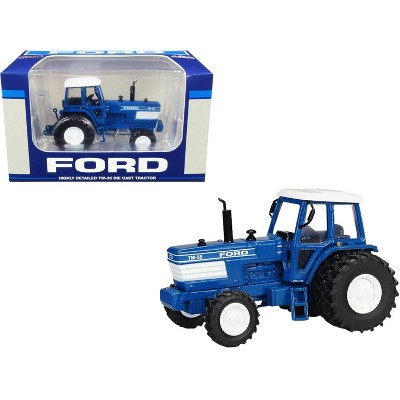 Ford TW-35 Tractor FWA with Duals Blue with White Top 1/64 Diecast Model by SpecCast