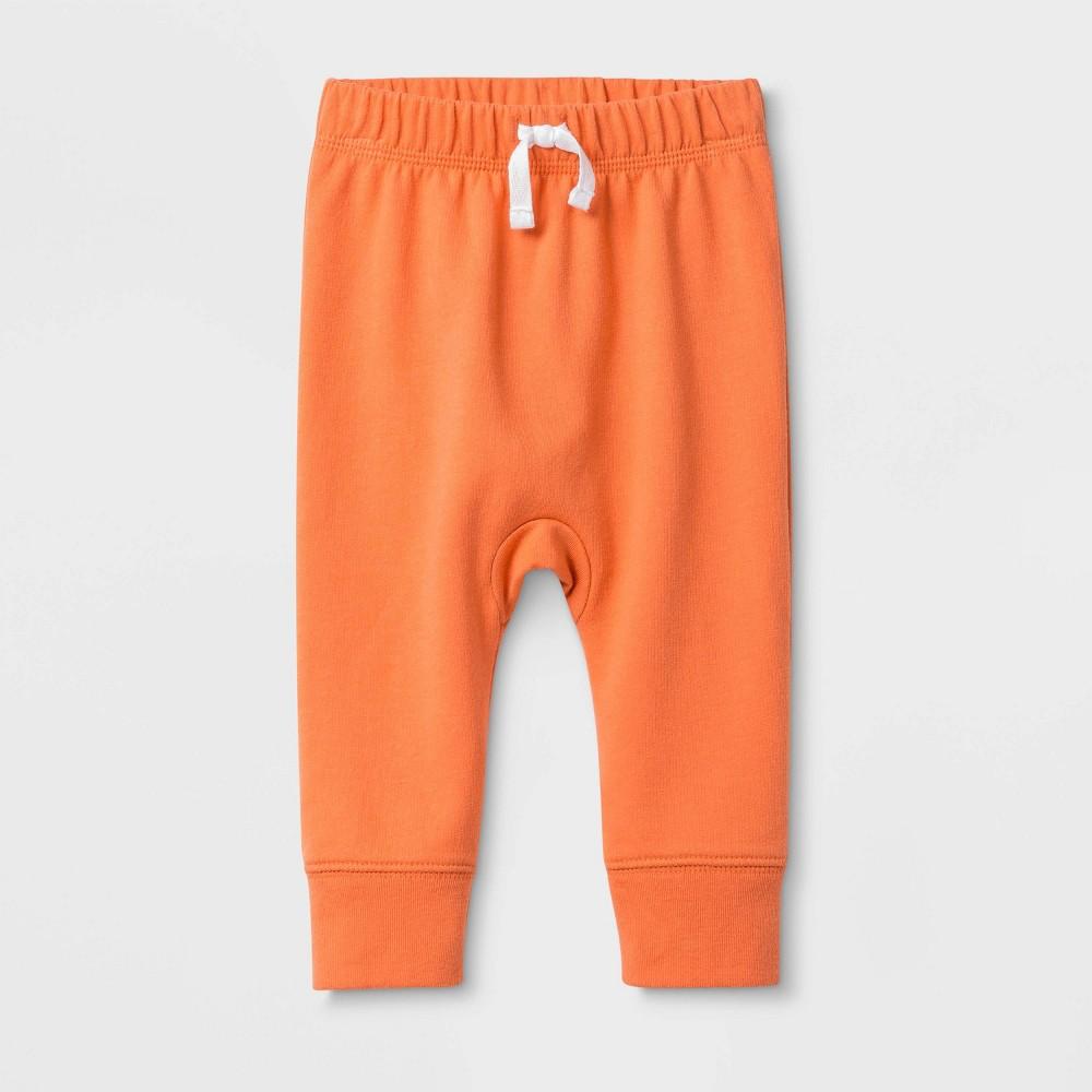 Image of Baby Harem Jogger Pants - Cat & Jack Coral 0-3M, Kids Unisex, Orange