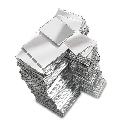 Square Mirror Tiles, Tiny Mirrors for Crafts and DIY (3 Sizes, 150 Pack)