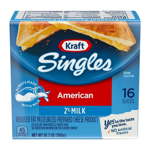 Kraft Singles American Cheese 2% Milk Reduced Fat - 16ct - image 1 of 3