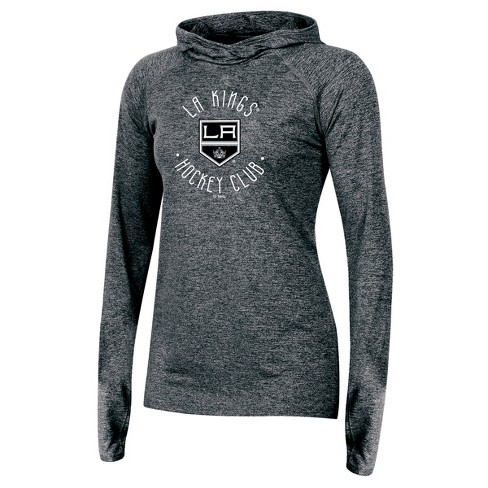 23a55e92370 NHL Los Angeles Kings Women s For The Win Gray Performance Hoodie ...