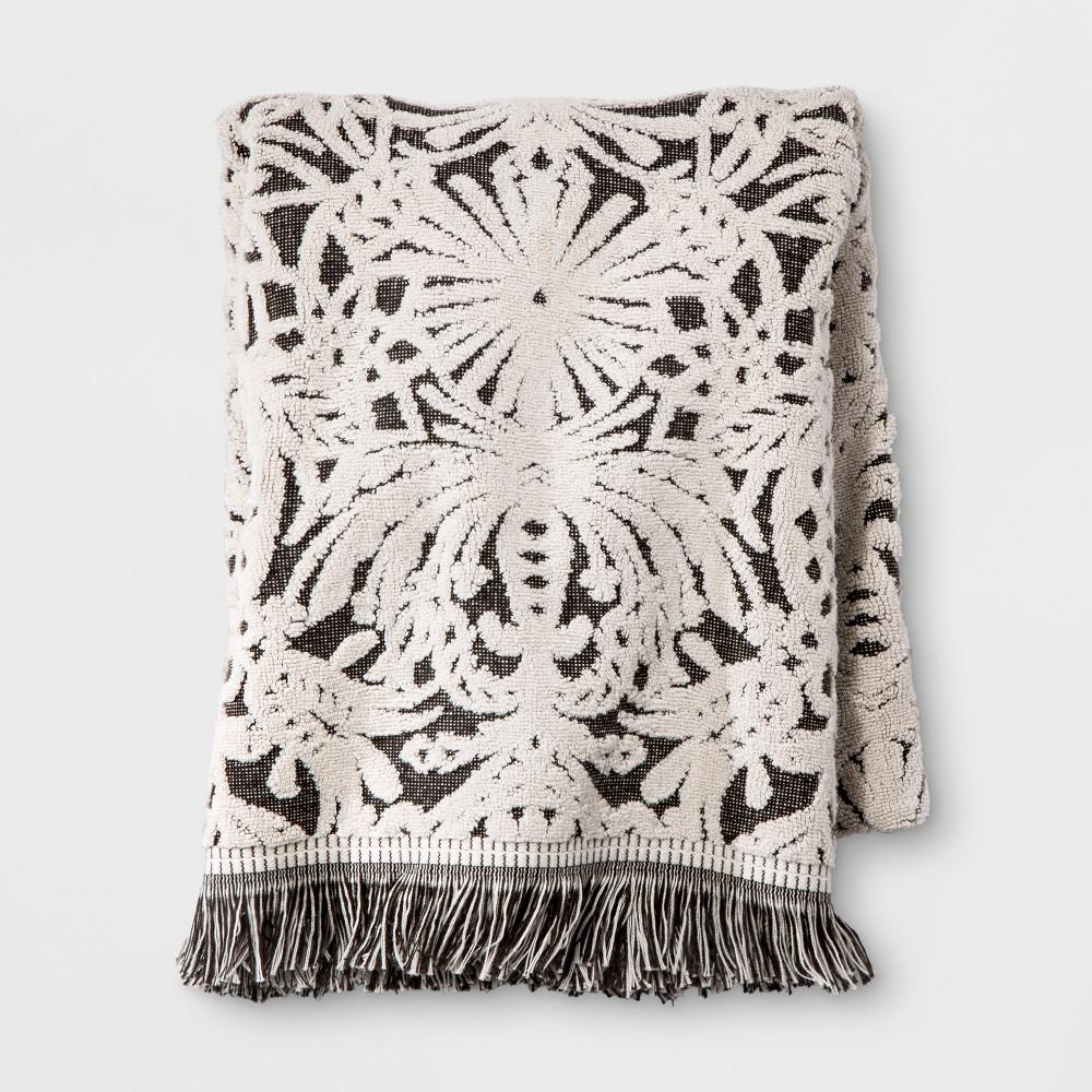 Image of Allover Pattern Bath Towel Black/White - Opalhouse