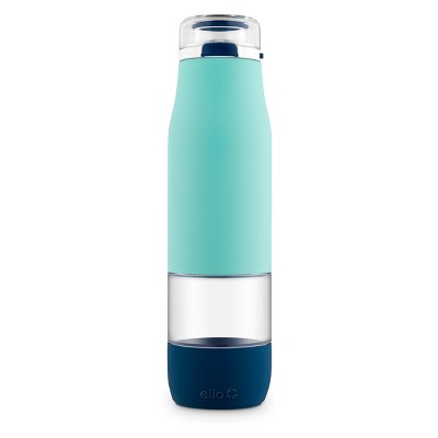 Ello 24oz Aura Glass Hydration Bottle Blue