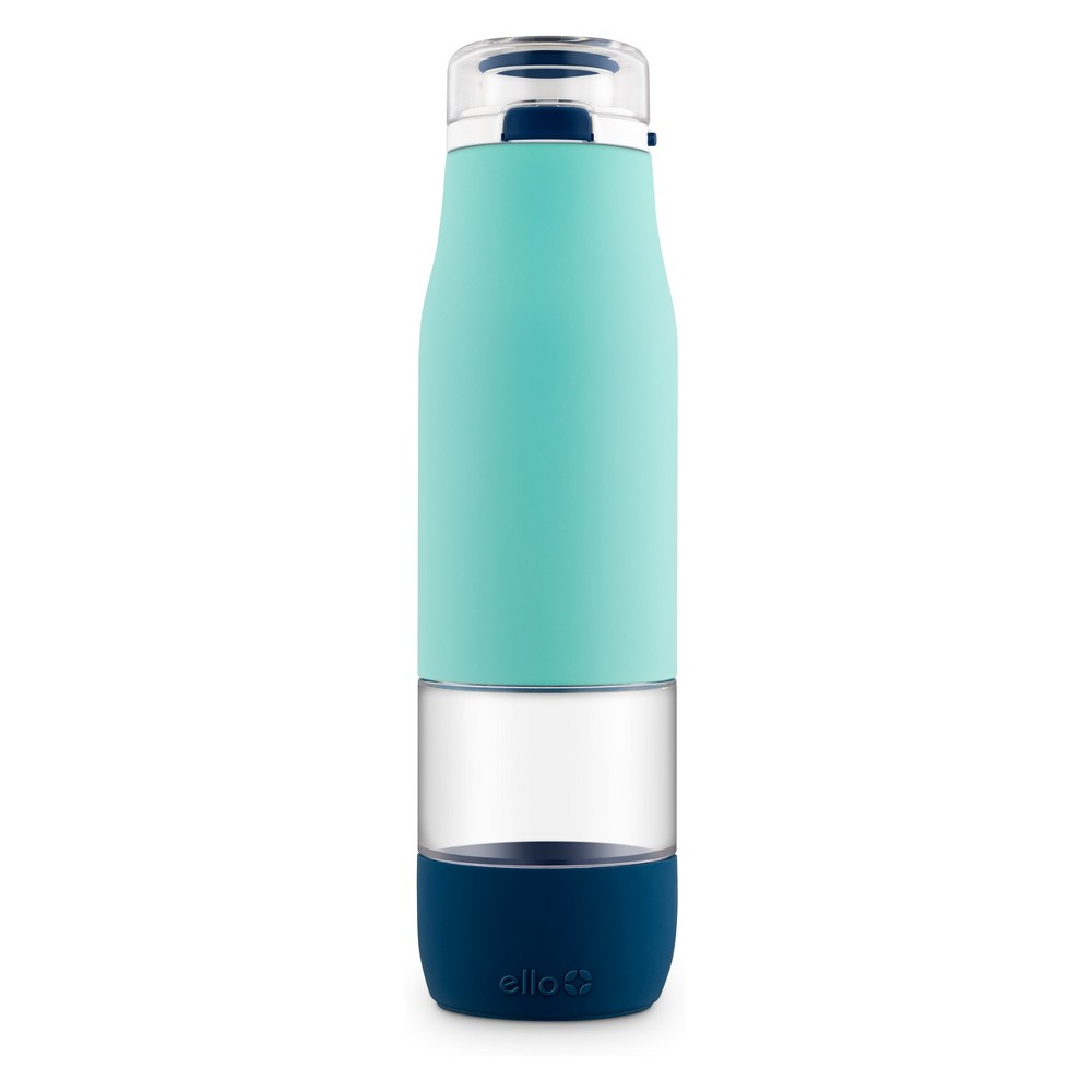 Image of Ello 24oz Aura Glass Hydration Bottle Blue