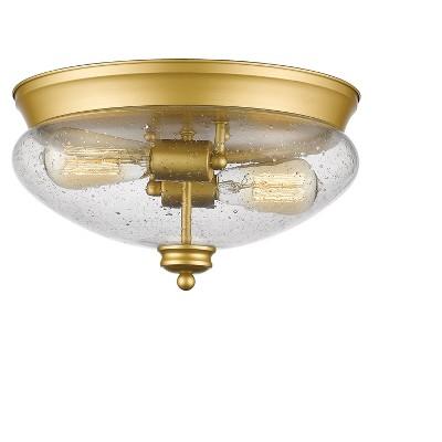 """7.5"""" Ceiling Light Flush Mount Satin Gold - Z-Lite"""
