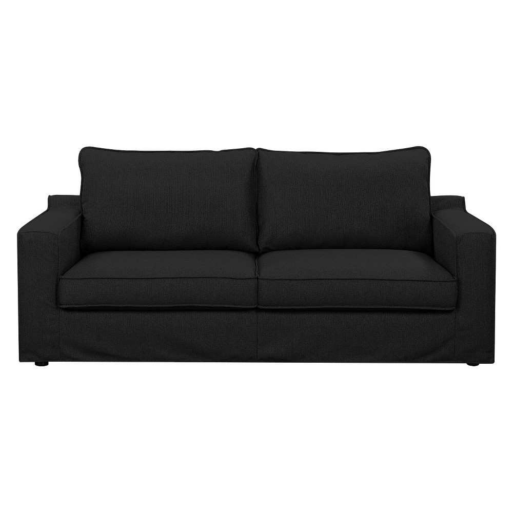 Colton 85 Sofa with Slipcover Charcoal (Grey) - Serta