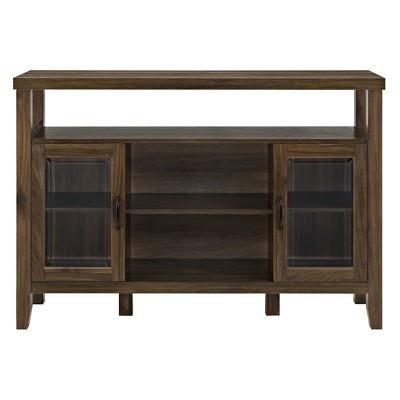 52  Wood Console High Boy Buffet Dark Walnut - Saracina Home