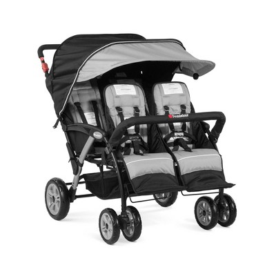 Foundations Quad Sport 4-Passenger Stroller - Gray
