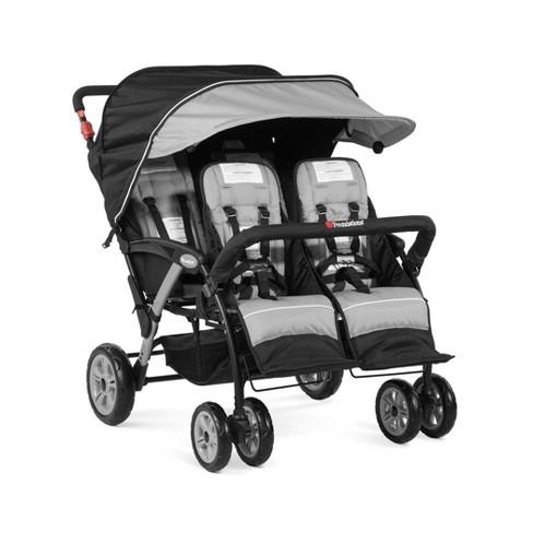 Foundations Quad Sport 4-Passenger Stroller - Gray - image 1 of 4