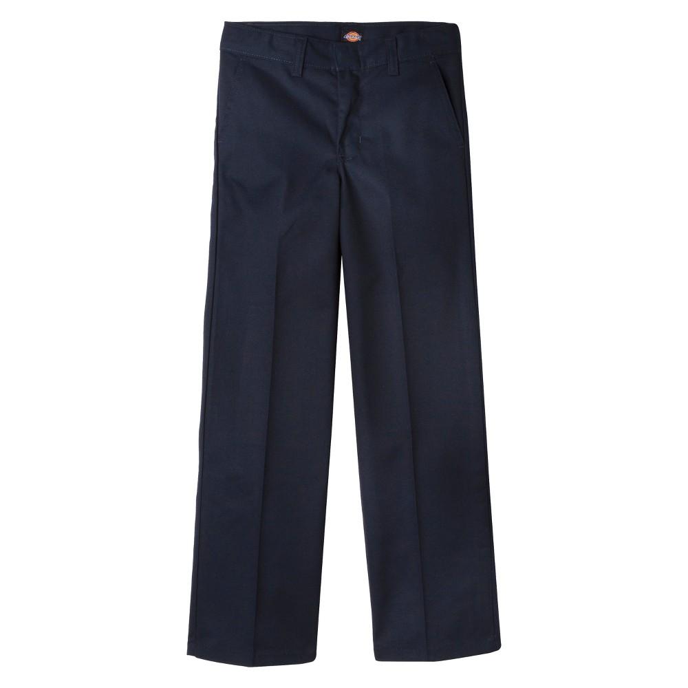 Dickies Boys' Flat Front Uniform Chino Pants - Dark Navy ...