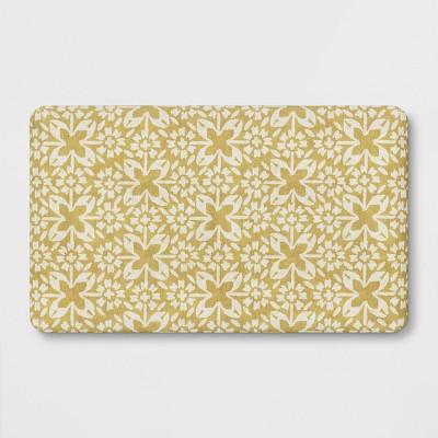"30"" x 18"" Tile Print Comfort Mat Yellow - Threshold™"
