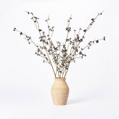 """7.5"""" x 4"""" Artificial Berry Plant Arrangement in Ceramic Vase - Threshold™ designed with Studio McGee"""