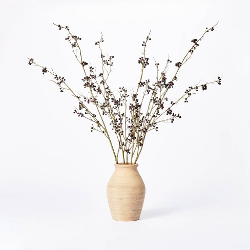 "7.5"" x 4"" Artificial Berry Plant Arrangement in Ceramic Vase - Threshold™ designed with Studio McGee - image 1 of 4"